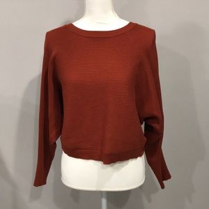 Forever21 Burnt Orange Ribbed Sweater